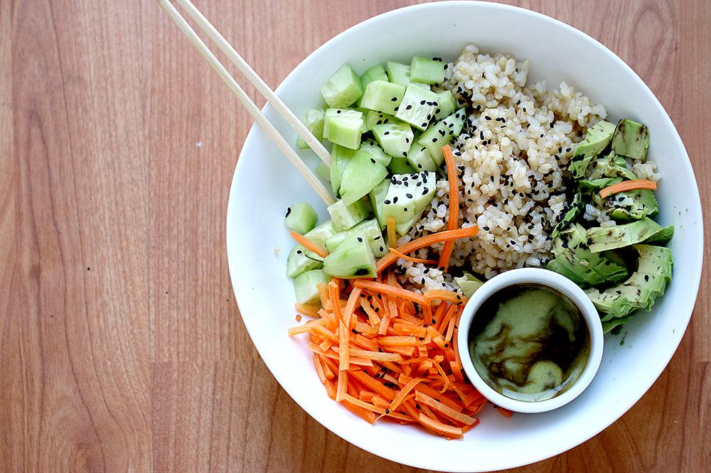Simple Vegan Sushi Bowl