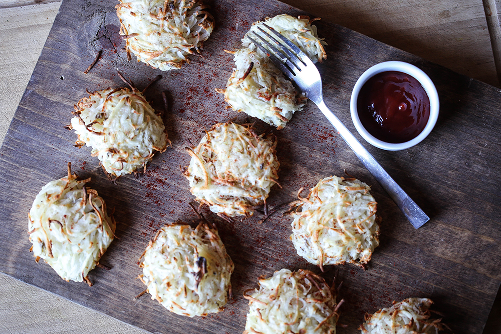 Oil-Free Hash Brown Rounds
